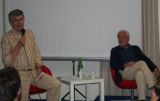 Pier Luigi Malesani con Amedeo Piva nel 2010 a Fiuggi per un convegno