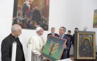 La visita di Papa Francesco al Sant'Alessio