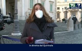Giornalista in diretta dal Quirinale