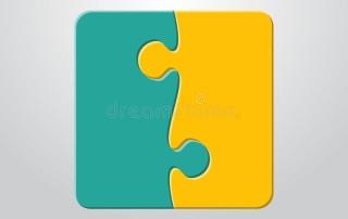 Due pezzi di puzzle uniti
